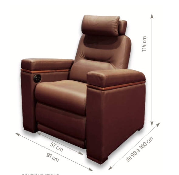 Fauteuil Oray Zoom Dimensions