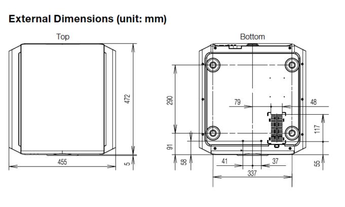 JVC DLA RS-57 dimensions