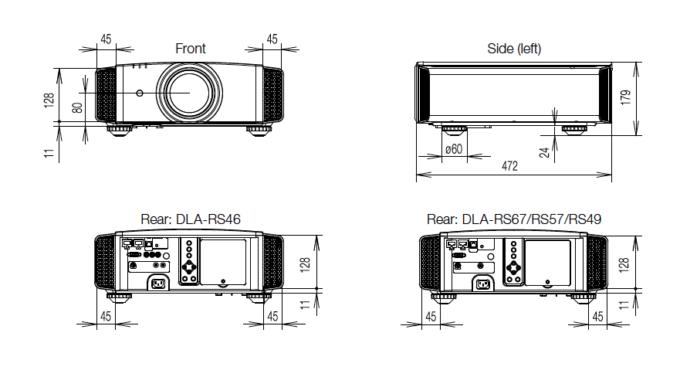 JVC DLA RS-57 dimensions 2